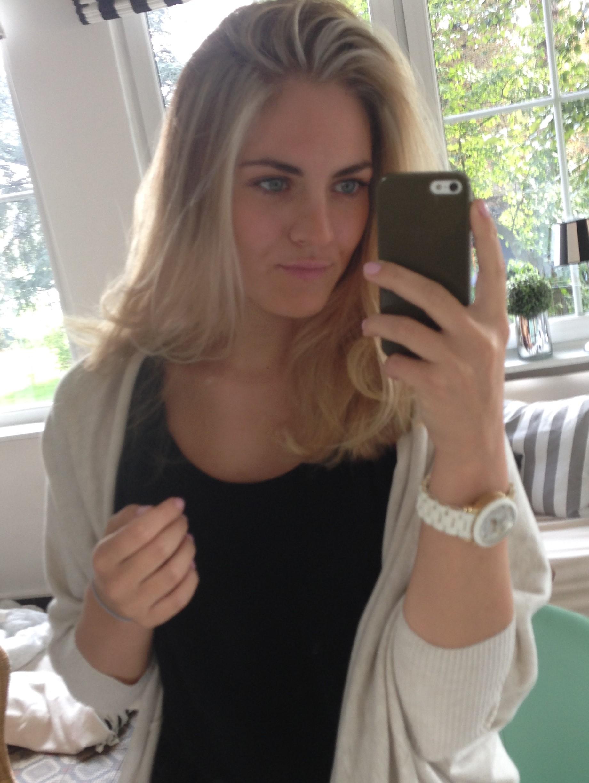 Friseur von braun auf blond