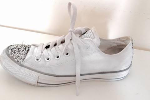 Verrückt nach Converse- Chuck Taylor Toecap Sparkle Weiß