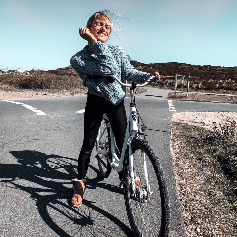 Romina Violetta Fahrradtour auf Sylt