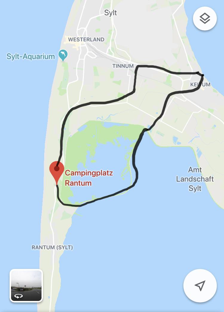 Fahrradtour Sylt Rantum, Keitum, Tinnum
